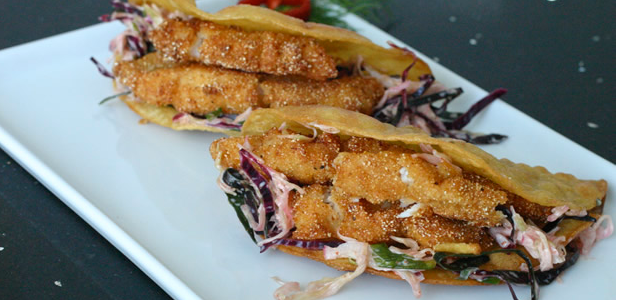 Swai Tacos with Chipotle Coleslaw